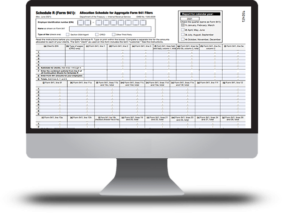 IRS Form 941 Schedule R for 2018