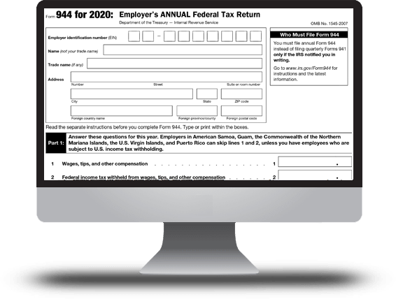 IRS Form 944 for 2018