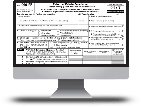 Form 990-PF (Return of Private Foundation)